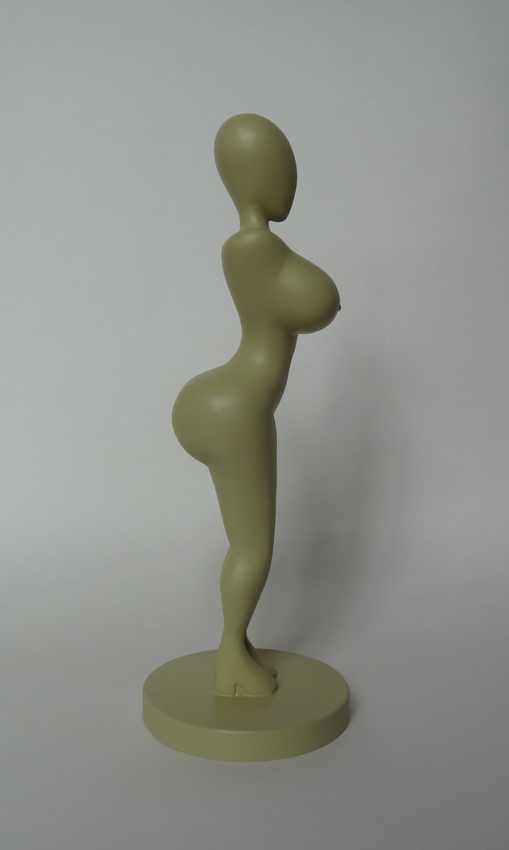vrouwfiguur curaçao thessa fleming 3D model curaçao Ochichi